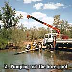 Pumping out the bore pool